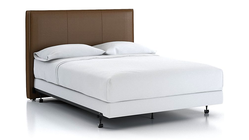 Flange Queen Headboard Saddle Faux Leather - Image 1 of 2