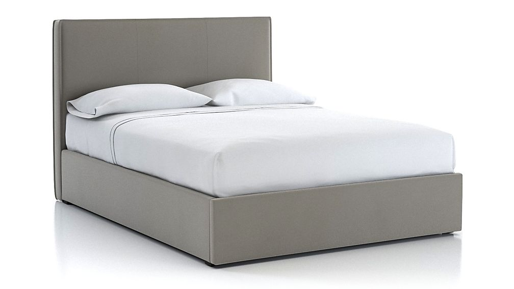Flange Queen Upholstered Headboard with Gas-Lift Base Dove - Image 1 of 5