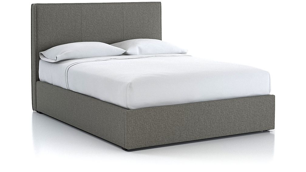 Flange Queen Upholstered Headboard with Gas-Lift Base Grey - Image 1 of 6