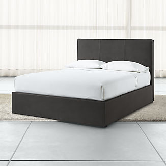 Flange Upholstered Headboard with Gas-Lift Base