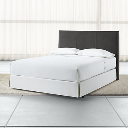 promo code 3dbfc 6e1fe Flange Queen Headboard Grey Faux Leather + Reviews | Crate ...