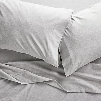 Grey Flannel Sheet Set Full