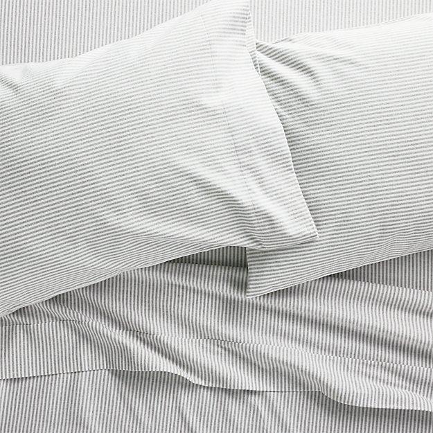 Stripe Flannel Sheet Sets - Image 1 of 5
