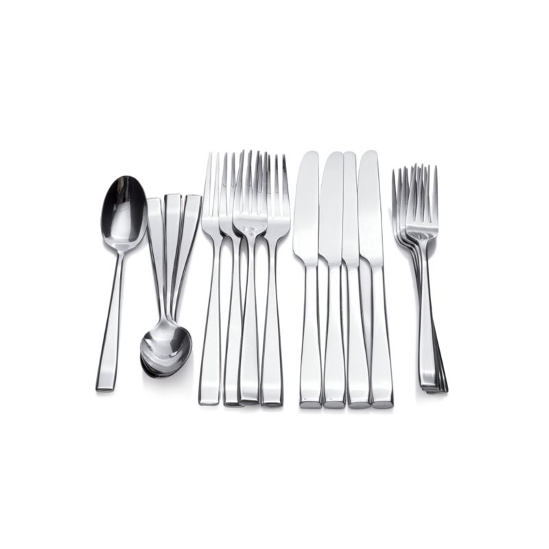 In a formal place setting the salad fork is usually placed on the left of the dinner fork furthest away from the plate. Salad forks are smaller than ...  sc 1 st  Crate and Barrel & Set of 4 Salad Forks + Reviews | Crate and Barrel