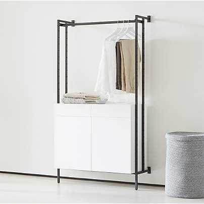 View testFlex Modular Closed Storage Cabinet with Clothing Bar