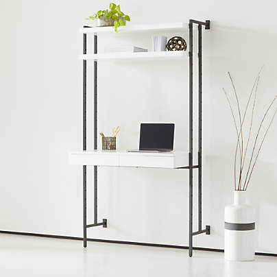 View testFlex Modular Desk with Shelves