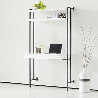 Flex Modular Desk with Shelves