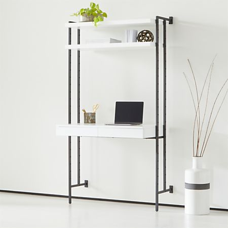 Miraculous Flex Modular Desk With Shelves Lamtechconsult Wood Chair Design Ideas Lamtechconsultcom