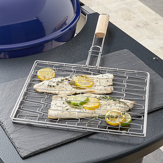 Flexible Grill Basket with Wood Handle - Image 1 of 3