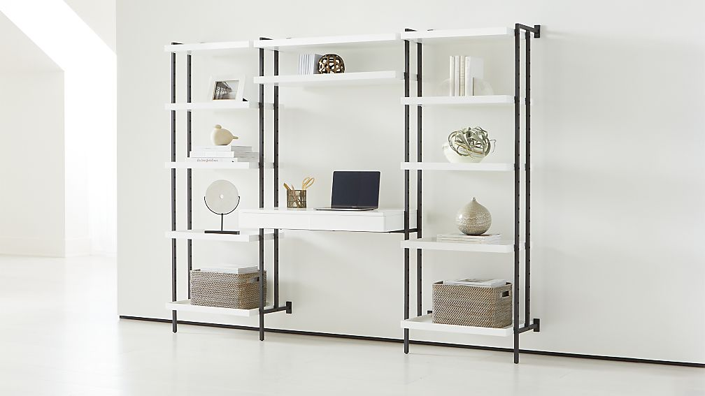 Flex Modular Tall Desk and 2 Bookcases - Image 1 of 5