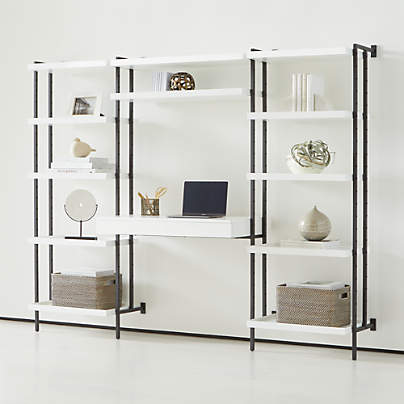 View testFlex Modular Tall Desk and 2 Bookcases