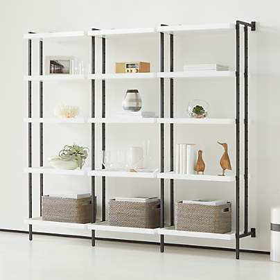 "View testFlex Modular Triple 24"" 5-Shelf Bookcase"