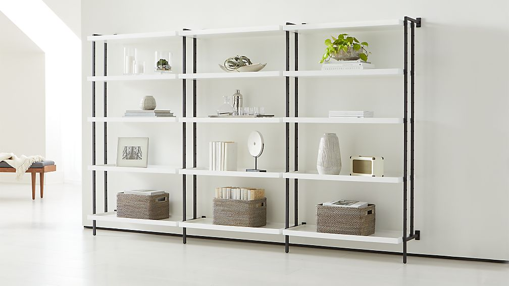 "Flex Modular Triple 36"" 5-Shelf Bookcase - Image 1 of 3"