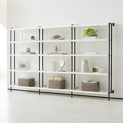"View testFlex Modular Triple 36"" 5-Shelf Bookcase"