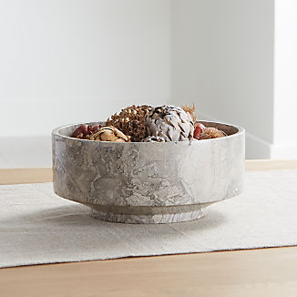 Flint Grey Marble Bowl