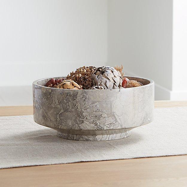 Flint Grey Marble Bowl - Image 1 of 6