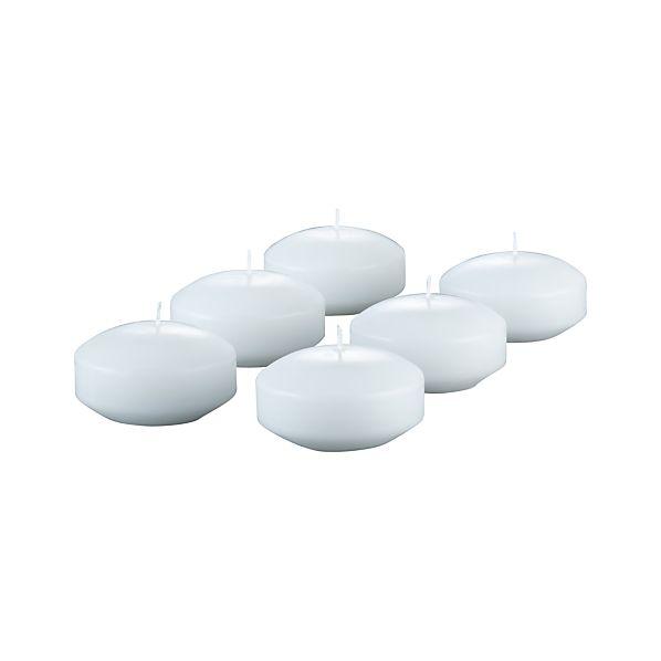 Set of 6 Large Floating Candles