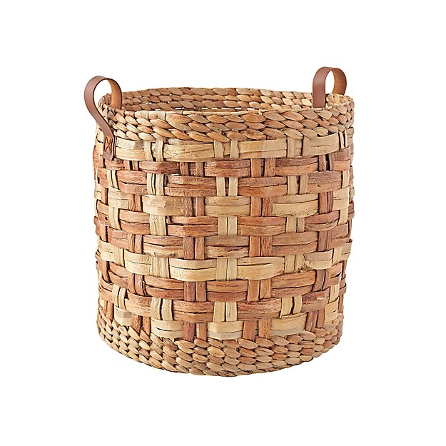 Round Woven Storage Basket + Reviews | Crate and Barrel