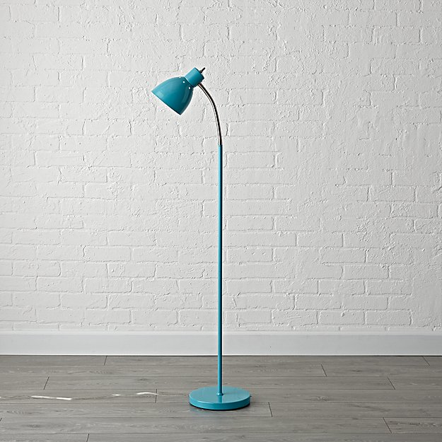 Teal adjustable floor lamp reviews crate and barrel mozeypictures Gallery
