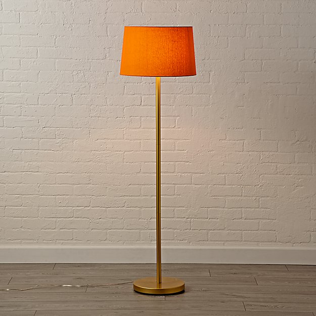 Mix and match orange floor lamp shade reviews crate and barrel aloadofball Images