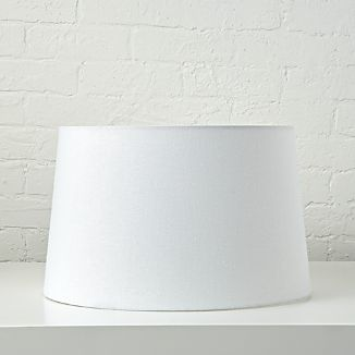 White lamp shades crate and barrel mix and match white floor lamp shade aloadofball Images