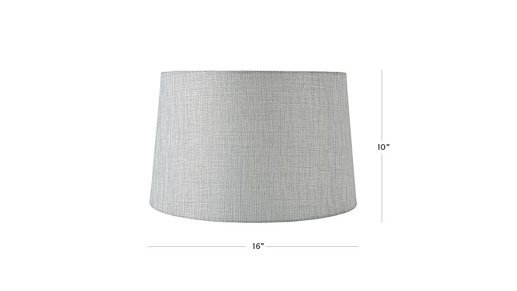 Textured silver floor lamp shade reviews crate and barrel tap to zoom image with dimension for mix and match silver floor lamp shade aloadofball Image collections