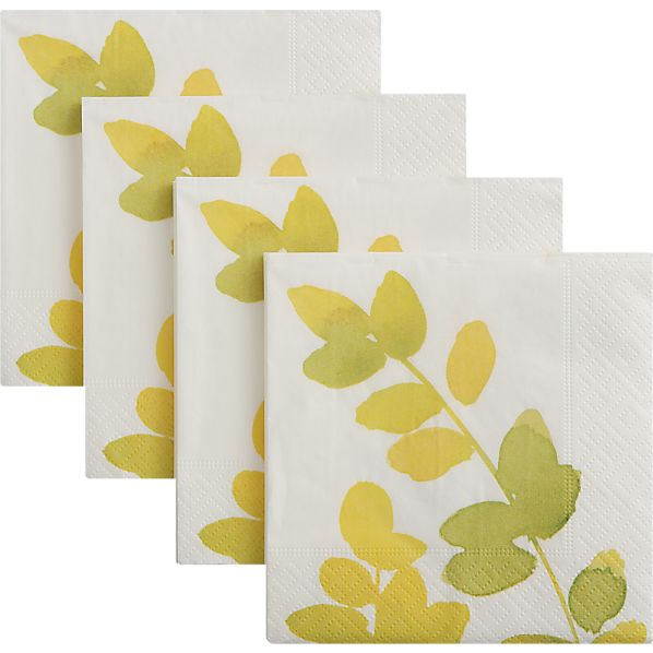 Set of 20 Flora Beverage Napkins