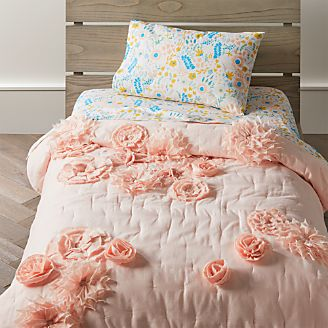 blooming floral toddler bedding - Toddler Girl Bedding