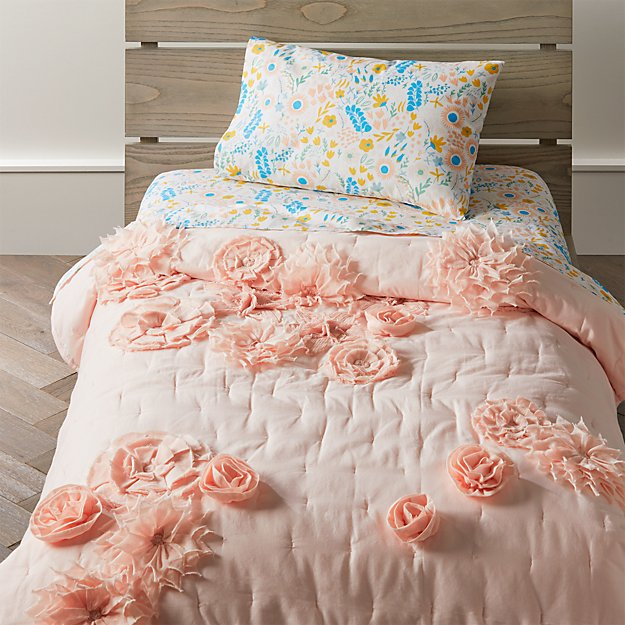 Blooming Floral Toddler Bedding Crate And Barrel