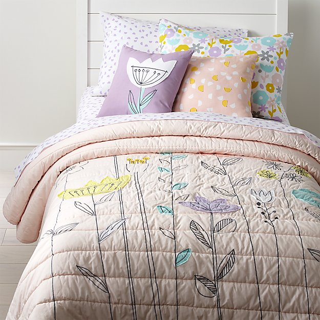 Pastel Floral Bedding Crate And Barrel