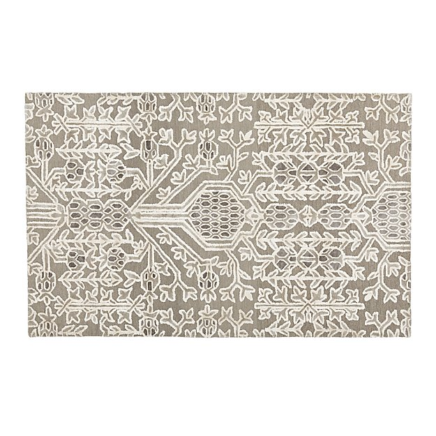 Florian Grey Wool Blend 5 X8 Rug Crate And Barrel