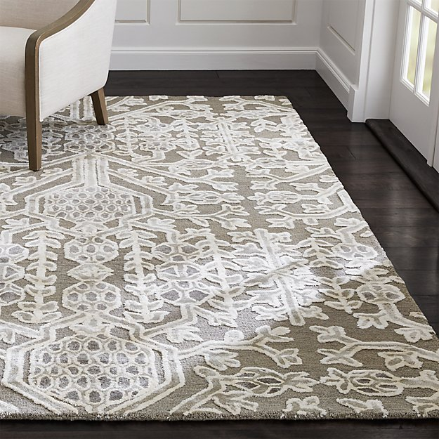 florian grey and white geometric rug | crate and barrel