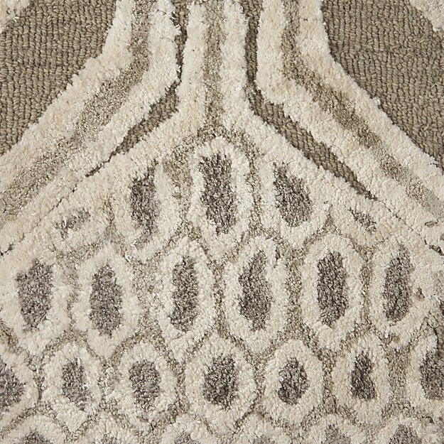 "Florian Grey Wool-Blend 12"" sq. Rug Swatch"