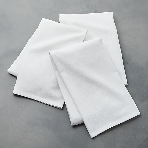 Set of 3 White Flour Sacks