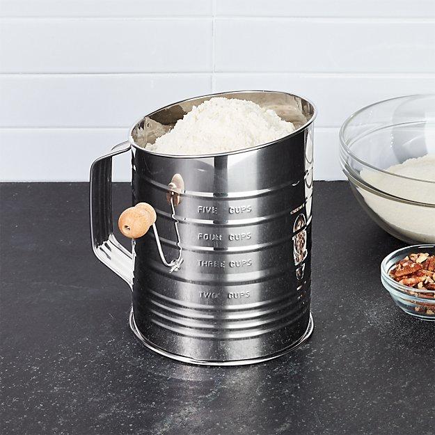 flour sifter reviews crate and barrel rh crateandbarrel com