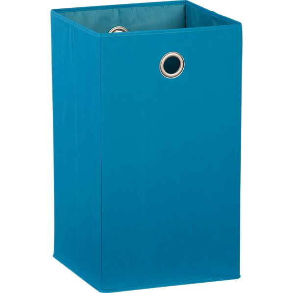 Teal Folding Hamper with Grommet