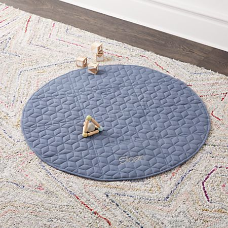 Fold and Go Navy Portable Baby Mat + Reviews | Crate and Barrel
