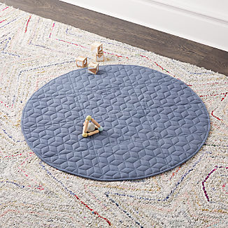 Fold and Go Navy Portable Baby Mat