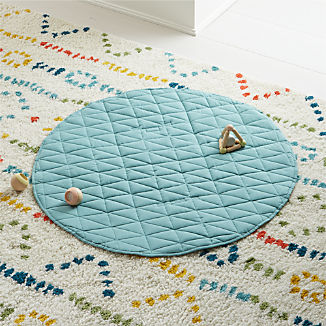 Fold and Go Teal Portable Baby Mat
