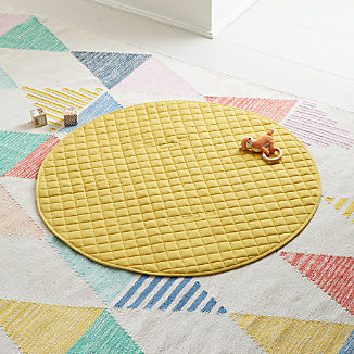 Fold and Go Yellow Portable Baby Mat