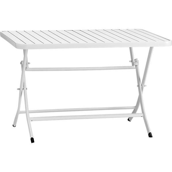 Foldaway White Dining Table