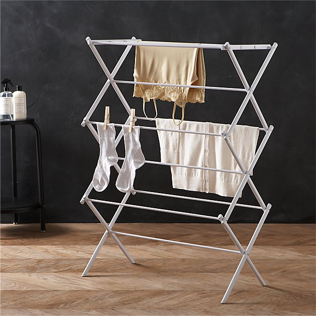Large Folding Drying Rack Reviews Crate And Barrel