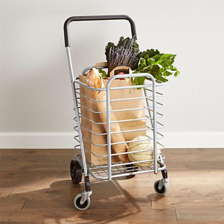 Polder Folding Shopping Cart | Crate and Barrel