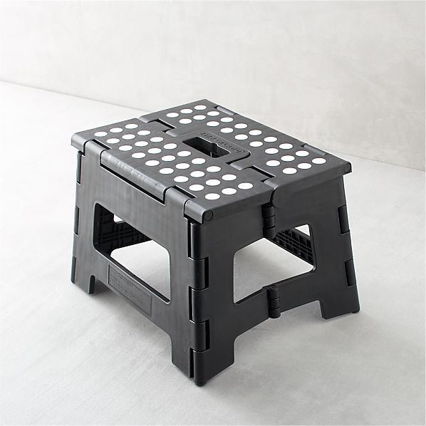 Folding Black Step Stool II