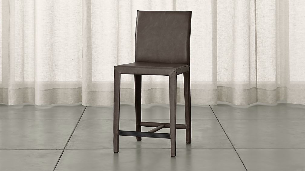 Folio Top Grain Leather Counter Stool Reviews Crate