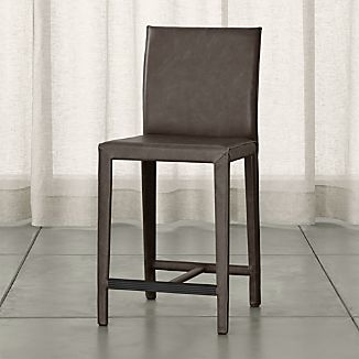 Folio Top-Grain Leather Counter Stool