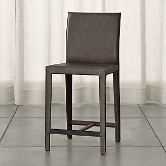 folio topgrain leather counter stool