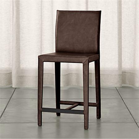 Astounding Folio Saddle Top Grain Leather Counter Stool Reviews Cjindustries Chair Design For Home Cjindustriesco