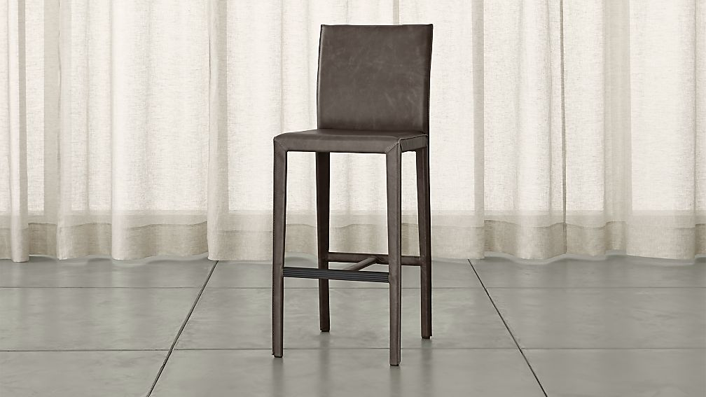 Folio Top Grain Leather Bar Stool Reviews Crate And Barrel