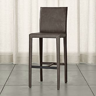 Folio Top-Grain Leather Bar Stool & Bar Stools and Counter Stools | Crate and Barrel islam-shia.org